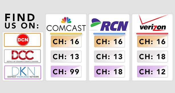 Image of OCT's cable channels across providers